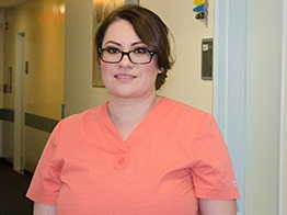 Medical Assistant Ana Aguilar says technology helps enable a warm handoff between providers